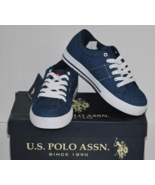 "Men's Casual ""Mast"" Shoes by U.S. Polo Assn. Size 7M, Navy Denim with Re... - $19.99"