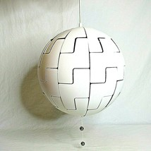 IKEA Modern Pendant Lamp White Silver Death Star PS 2014 - $89.09