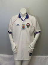 Real Cartago FC Soccer Jersey (VTG) - Home White By Atheltica - Men's XL - $75.00