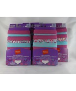 Hanes Girls 3 Pack Tagless Hipsters Panties Underwear - New - $9.99