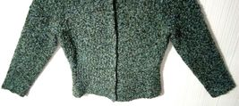 Talbots Petites Women's M Blue Green Wool Snap Buttons Sweater Cardigan image 8