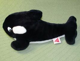 "15"" VINTAGE DAKIN FREE WILLY 2 ORCA KILLER WHALE STUFFED ANIMAL 1995 WAR... - $17.82"