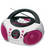 Hello Kitty Portable Stereo CD Boombox with AM/FM Radio Speaker - $64.97