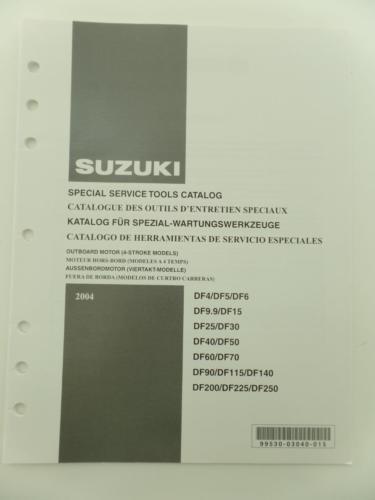 Suzuki 2004 Special Service Tools Catalog and 50 similar items