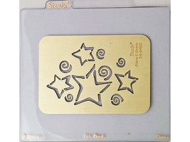 Sizzix Metal Embossing Plate, Stars & Swirls #38-9653