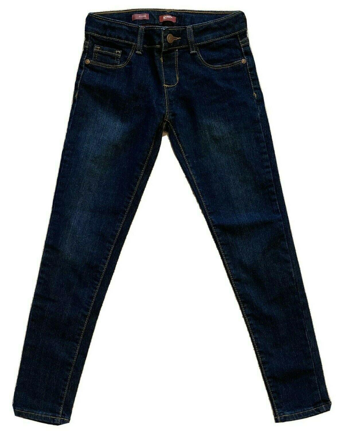 Arizona Jeans Co.Jeggings Dunkelblau Waschung Verstellbare Taille Mädchen - Eu 8 - $11.83