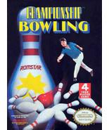 Championship Bowling NINTENDO NES Video Game - $4.97