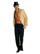 Rubie's Deluxe Men's Gold Sequin Jacket, Gold, Small Costume - £50.01 GBP