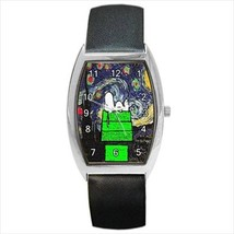 Christmas Snoopy Starry Night Van Gogh Barrel Watch - 2 Colors To Choose From! - $26.99