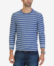 Nautica Blue Indigo Men's Slim-Fit Striped  Crew Neck Long Sleeve Shirt ... - $21.95