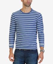 Nautica Blue Indigo Men's Slim-Fit Striped  Crew Neck Long Sleeve Shirt ... - $21.95