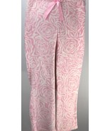 Bobbie Brooks Sleepwear Pink White Rose Print Lounge Pajama Pants Medium - $18.80