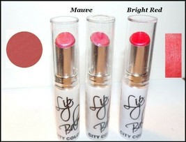 "NEW LOT OF 3 ""CITY COLOR"" CREAMY LIP BALM  Mauve & Red  FREE SHIP + FREE... - $10.95"