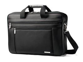 Samsonite Genuine Black Messenger Briefcase Laptop Shoulder Bag Mens Gus... - $122.98