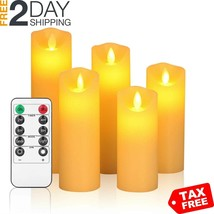 """OSHINE Flameless CandlesLED Candles Set of 5 6"""" 7""""8""""9"""" H2.2"""" D Flickerin... - $25.99"""