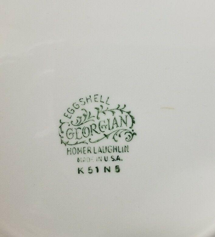 Homer Laughlin Eggshell Georgian China Dinner Plates Set of 2 K51 N5 Made in USA