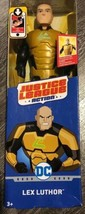 """NEW 12"""" LEX LUTHOR ACTION FIGURE Logo Glows in the Dark Justice League  - $19.46"""