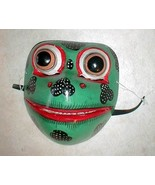 """Frog Mask Bali  Great for your Wall or your Face about 8"""" Handmade wood ... - $24.74"""