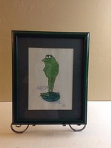 "FRAMED FROG PICTURE WALL HANGING BY DOLLE 15.5"" X 12.5"" FRAMED          ... - $24.14"