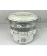 Zojirushi White Gourmet Electric Food Vegetable Steamer Rice Cooker Mod.... - $24.75