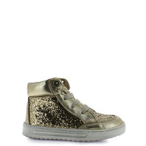Girl's gold leather lace up toddler tennis shoes - $40.98