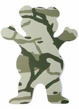 "Grizzly Griptape 5"" Green Tree Branch Camo Bear Stamp Skateboard Sticker Decal"
