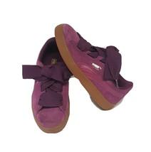 Puma Girls Purple Suede Sneaker sz 3C 364919 - $20.79