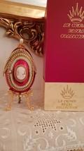 Valentines Day Faberge style Easter egg  Musical Foto Frame Trinket box HANDMDE  - $1,499.00