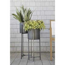 Plant Stand Short Pot Indoor Holder Handcrafted Iron Wrought Garden Flow... - $169.71 CAD