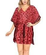 LA LEELA Swimsuit Cover ups Beach Kimono for Women Red_Y314 OSFM 16-28W ... - $21.99