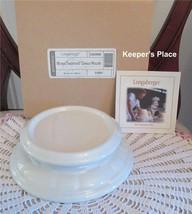 Longaberger Woven Traditions Candle Bowl Holder Ivory Pottery 3163690 Ne... - $26.00