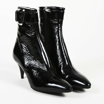 Prada Patent Leather Pointed Ankle Boots SZ 38.5 - $250.00