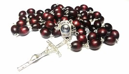 Rosary wooden with HOLY WATER from FATIMA Fatima Our Lady of Fatima bead... - $23.57