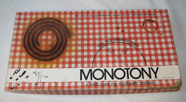 Monotony A Bored Game For Housepersons box is damaged board game Pre Owned - $59.39