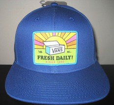 Vans Shoes Fresh Daily Since 1966 Snapback Hat Cap Blue Adjustable Free ... - $21.78
