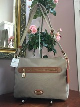 New Coach Crossbody Bag Fume Nylon F37337 Stone Brown B2A - $98.95