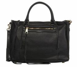 $325.00 Rebecca  Minkoff HS161PBS31 Regan Leather Satchel in Black - $143.54
