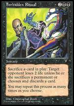 Magic The Gathering-Visions-FORBIDDEN RITUAL - $0.25
