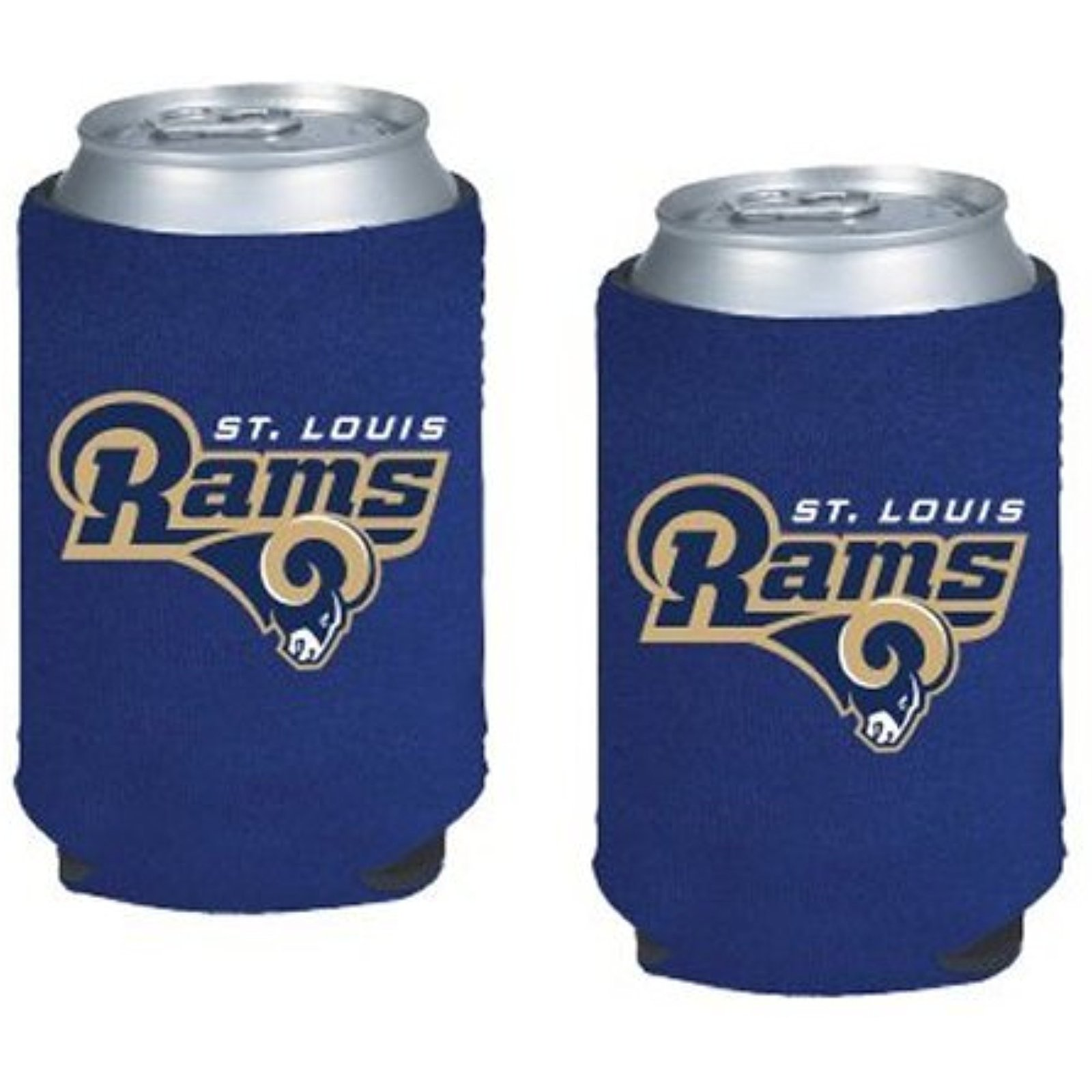 NFL St. Louis Rams 2-pack Neoprene Pocket Coolies Collapsible Beverage Insulator