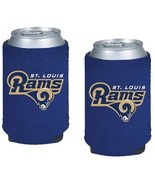 NFL St. Louis Rams 2-pack Neoprene Pocket Coolies Collapsible Beverage I... - $11.95