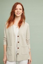 NWT $128 ANTHROPOLOGIE Lace-Up Cardigan Sweater Neutral S, M - $64.00