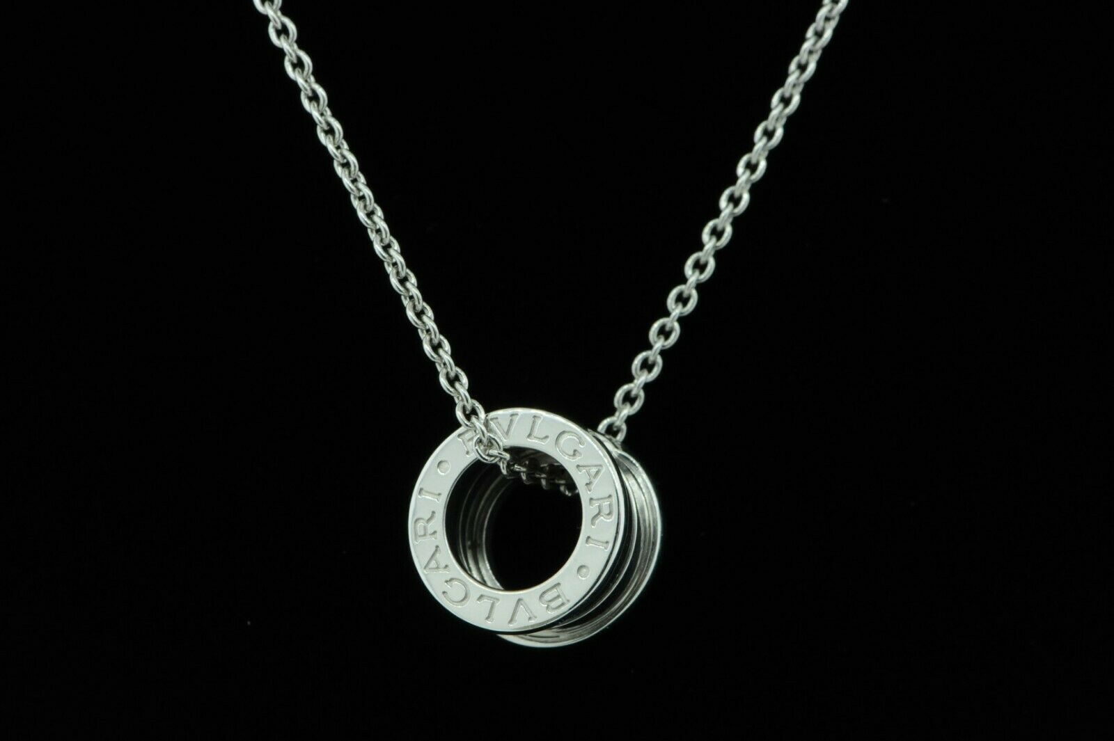 BVLGARI 18K White Gold B.ZERO1 Necklace (Retail $3000)