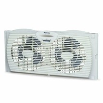 Holmes Window Fan with Twin 6-Inch Reversible Airflow Blades, White - $26.34