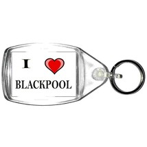 keyring double sided i heart blackpool, keychain i (love) blackpool