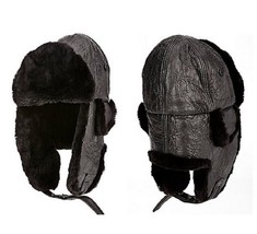 Crown Cap Black Fur Lined Aviator Hat X-SMALL MSRP $530.00 - $296.01