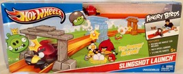 HOT WHEELS ANGRY BIRDS SLINGSHOT LAUNCH PLAYSET - Pig Popping Race Actio... - $17.94