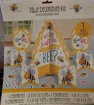 "Gender Reveal ""What will the Little Honey Bee"" Baby Shower Table Decorating Kit - $9.74"