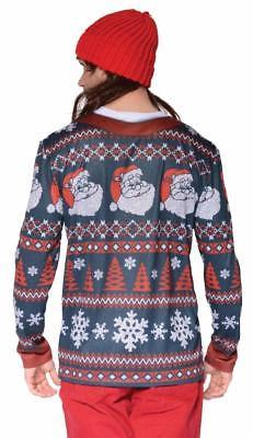Ugly Christmas Sweater Santa Mens Adult Costume Halloween Party FR126708