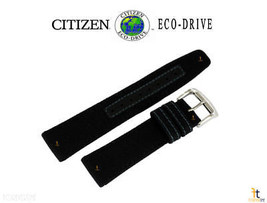Citizen 59-S53406 Original 22mm Black Nylon Watch Band fits AW1510-03H S103932 - $59.95