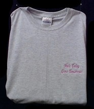 Breast Cancer Awareness T Shirt S Hair Today Gone Tomorrow Gray S/S Unisex New - $17.61